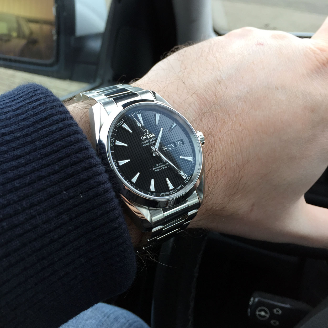 Omega Aqua Terra Annual Calendar Replica Men 's Watch Review