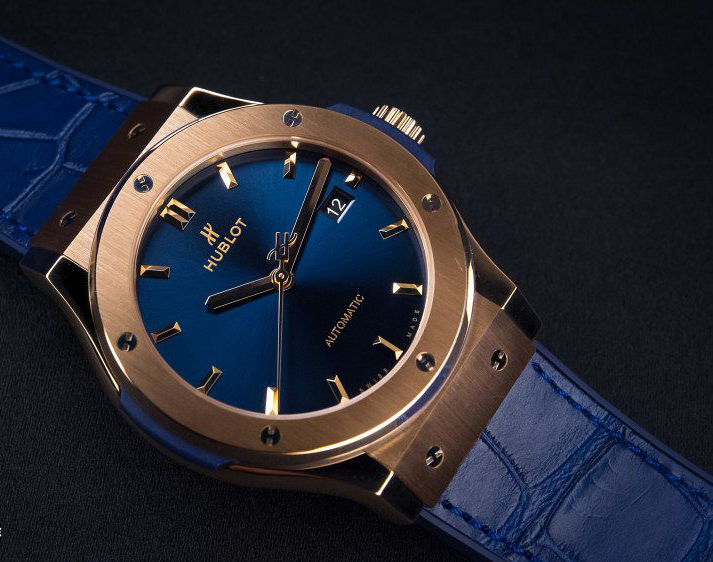 Hands-On: The Replica Hublot 42mm Classic Fusion King Gold Blue Watch Great On Men Or Women