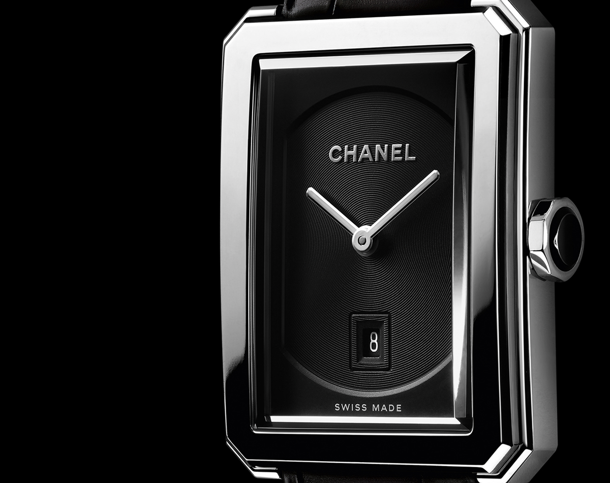 Luxury And Elegant Replica Chanel Boyfriend Black Dial Steel Watch Collection Hands On