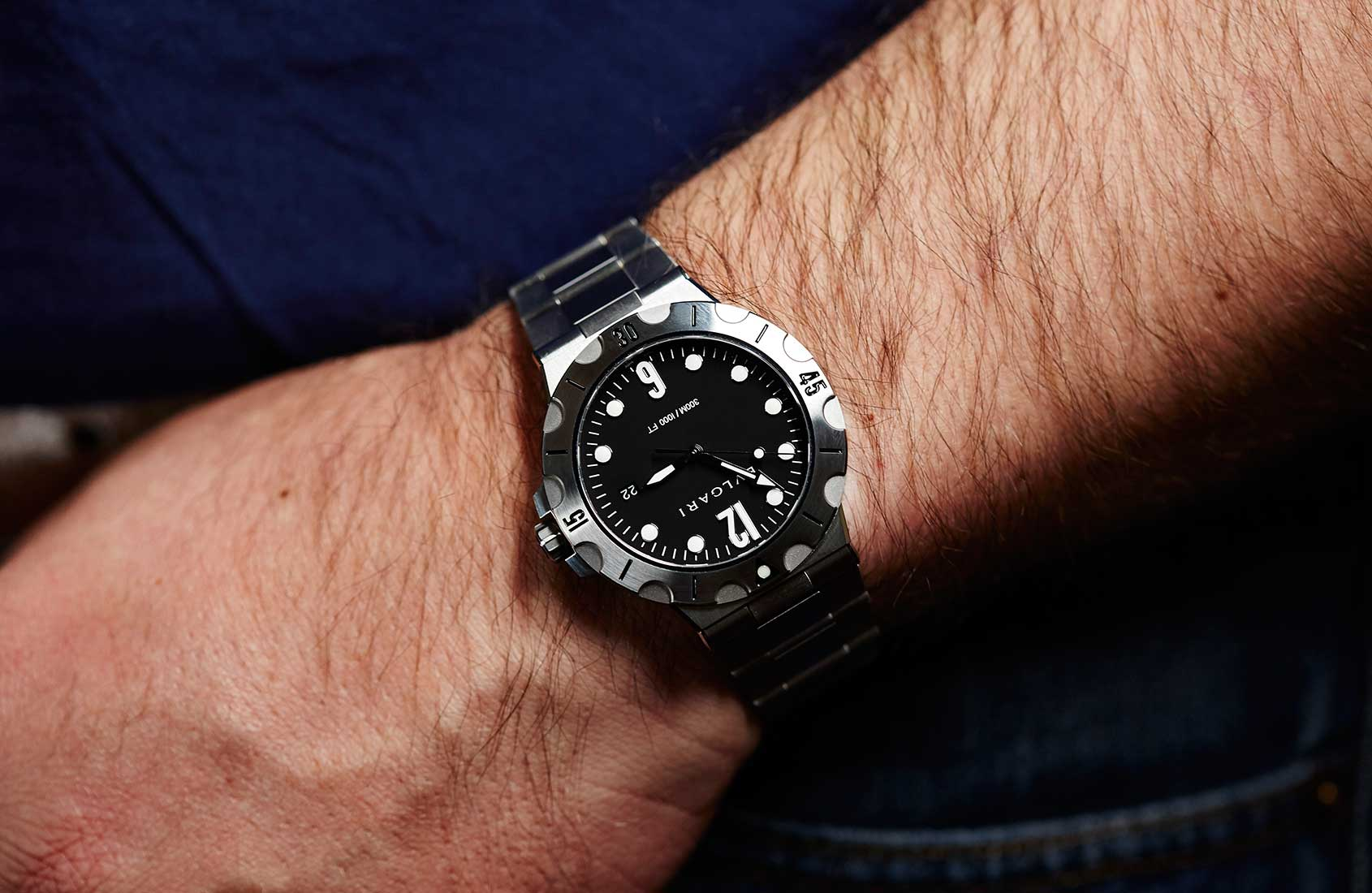 Hands-on With The Typical Swiss Made Bulgari Diagono Scuba Replica Watch
