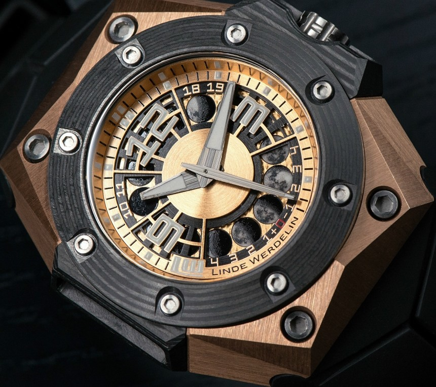 A Luxurious Version Of Linde Werdelin Oktopus Moon Gold 3DTP Carbon Replica