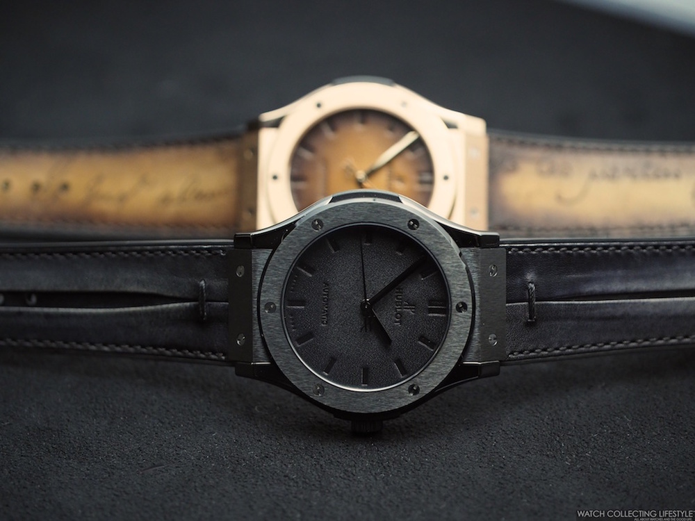 Hands-on With The Hublot Classic Fusion Berluti Scritto All Black Replica