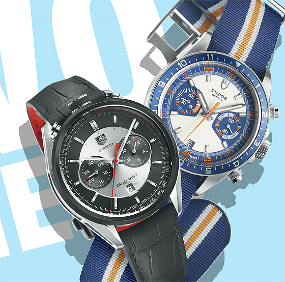 Replica TAG Heuer Carrera Calibre 1887 VS Tudor Heritage Chrono Blue