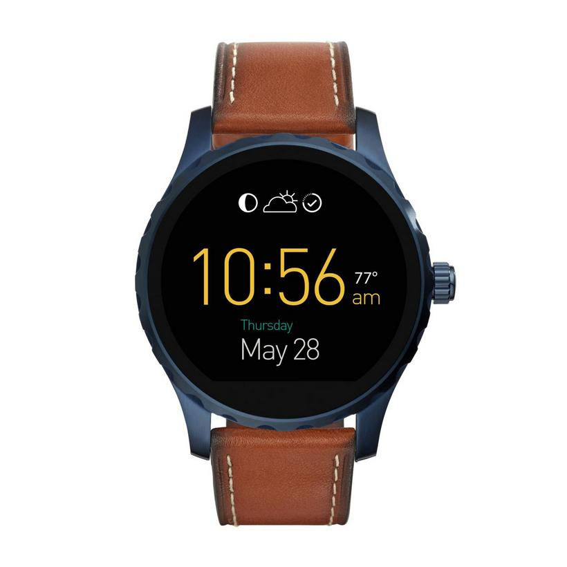Fossil Marshal Leather Strap Digital Smart