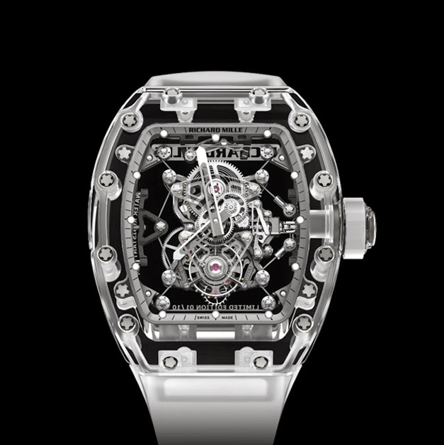 Richard Mille RM 056 Sapphire Tourbillon Split Seconds Chronograph Men's Replica