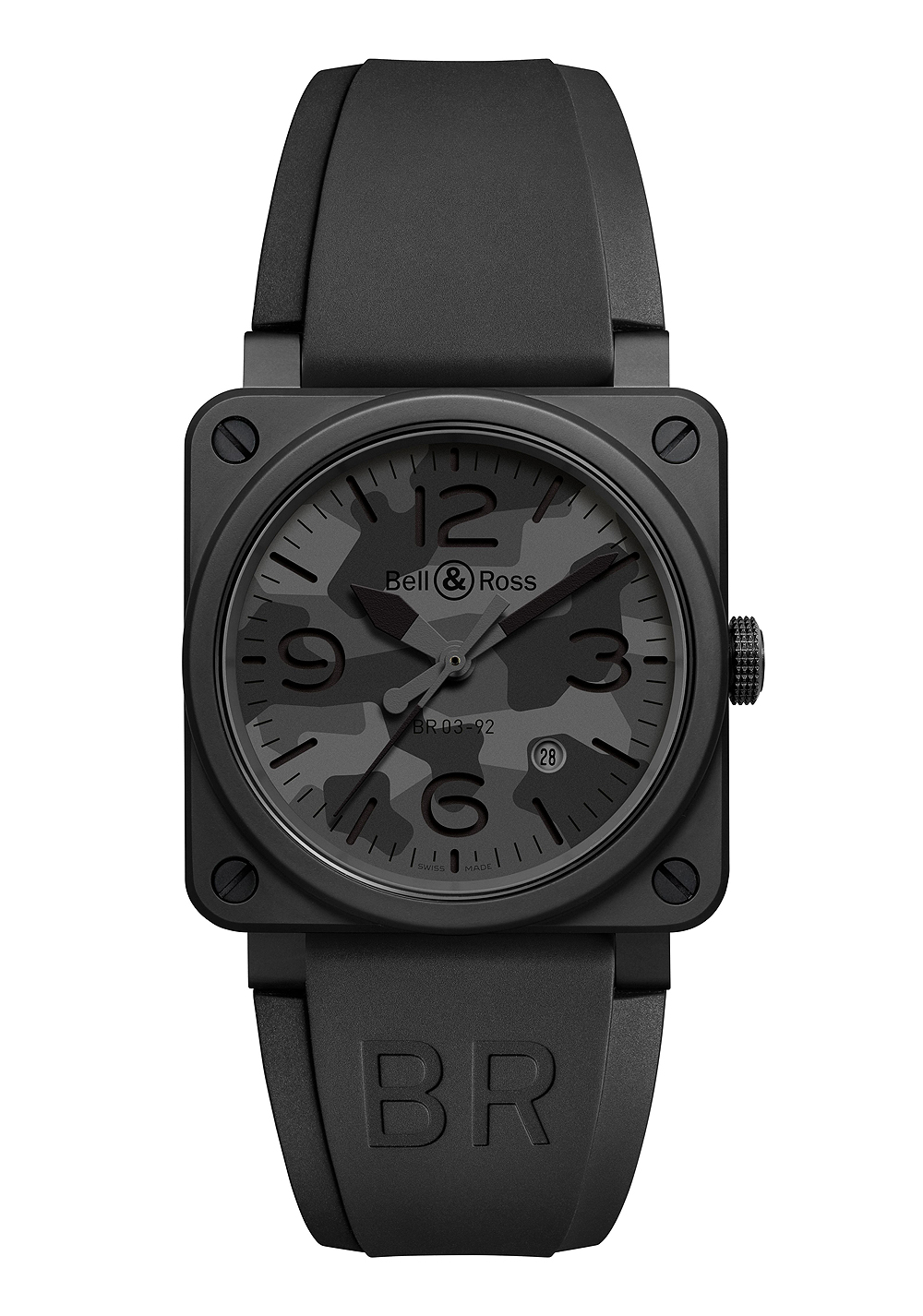A Luxurious Version Of Bell & Ross BR 03-92 Black Camo Replica