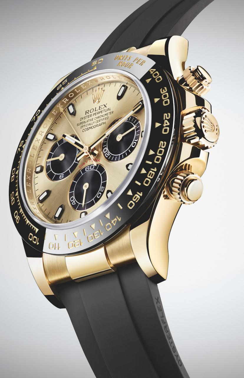 New Top 3 Rolex Watches Replica Cosmograph Daytona Watches In Gold With Oysterflex Rubber Strap & Ceramic Bezel For 2017 Watch Releases