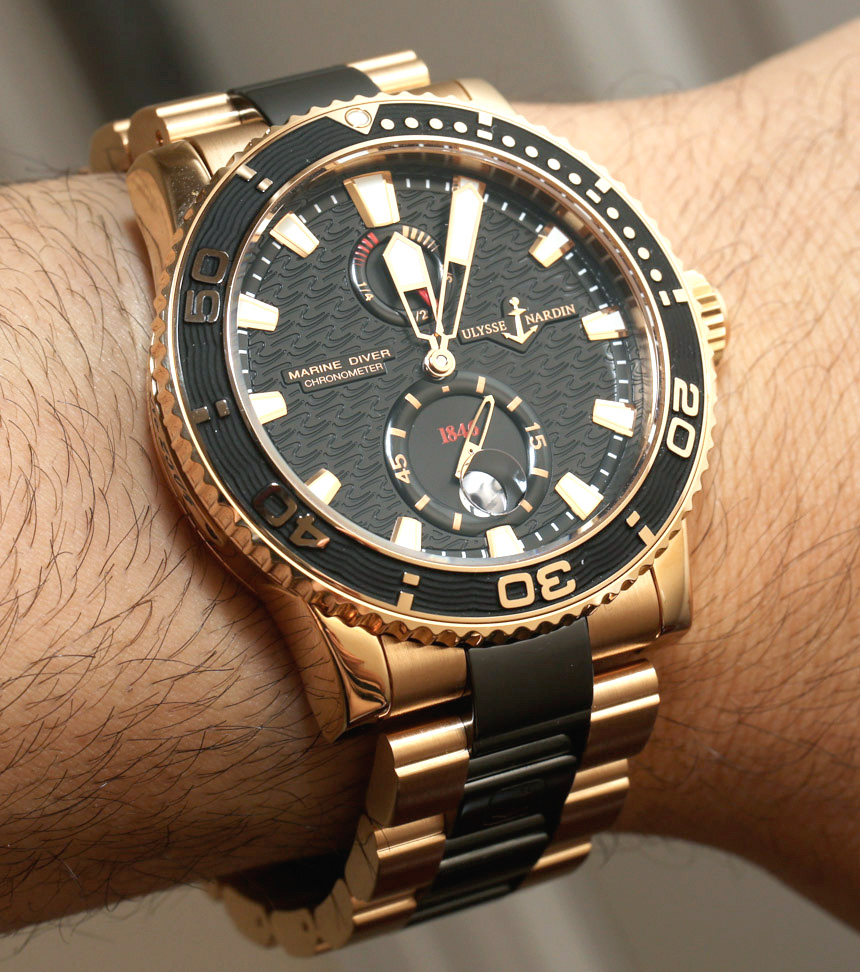 Ulysse Nardin Maxi Marine Diver Gold Ceramic Replica Watch Review
