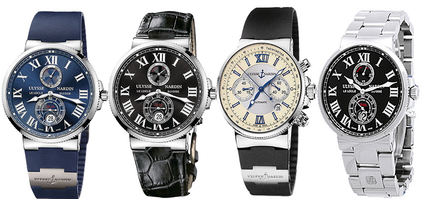 Mens Blue seal ulysse nardin marine chronometer replica watches review