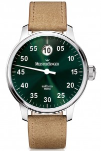 Replica 43mm Wide MeisterSinger Salthora Meta With Green Dial For Harrods