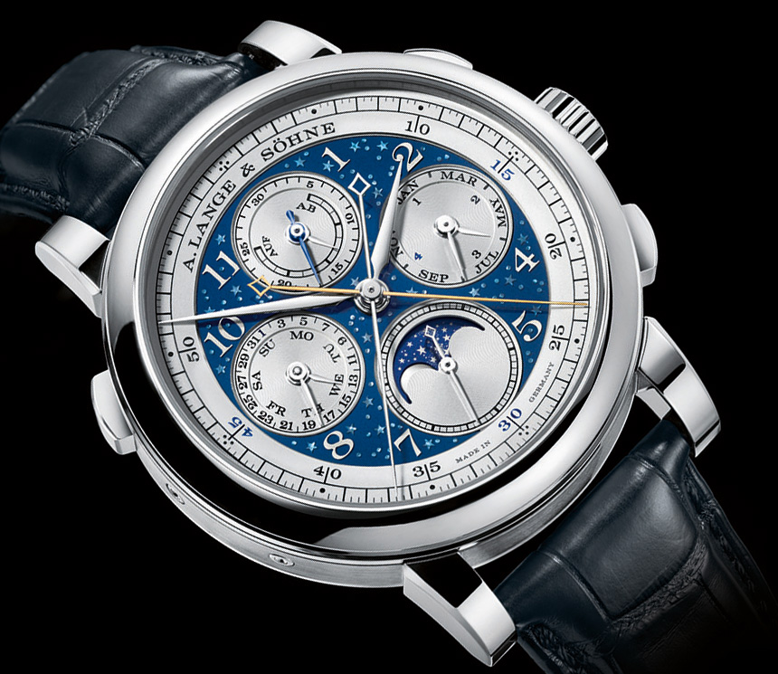 Swiss 7750 Valjoux A. Lange & Söhne 1815 Rattrapante Perpetual Calendar Handwerkskunst & Blue Series Watches Japanese Movement Replica