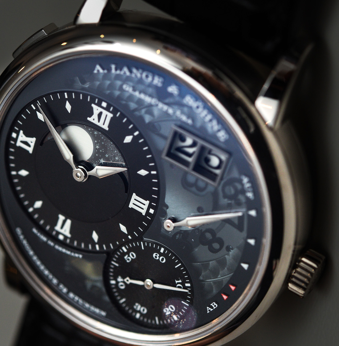 How Much A. Lange & Söhne Grand Lange 1 Moon Phase 'Lumen' Watch Hands-On Japanese Movement Replica