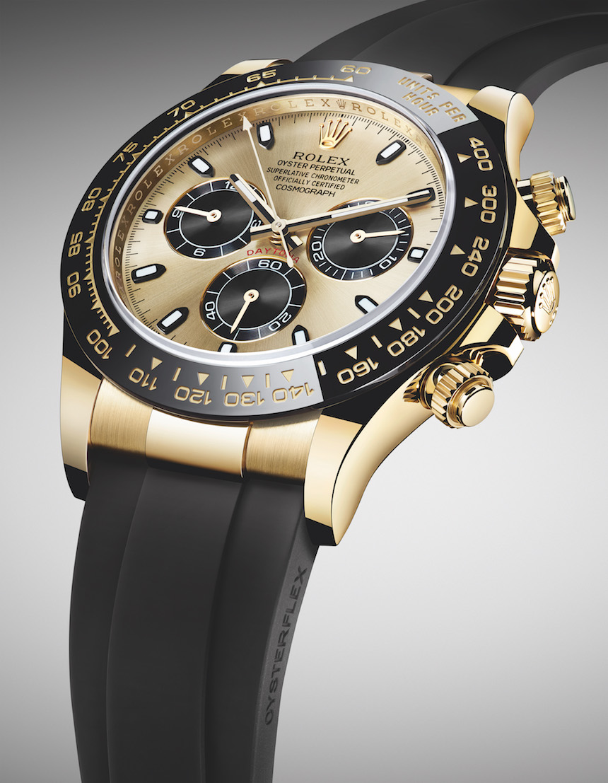 New Rolex Cosmograph Daytona Watches In Gold With Oysterflex Rubber Strap & Ceramic Bezel To Get 2017 Replica Watches Online Safe